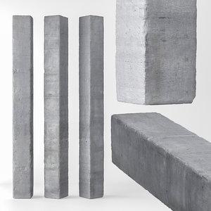 3D column concrete model