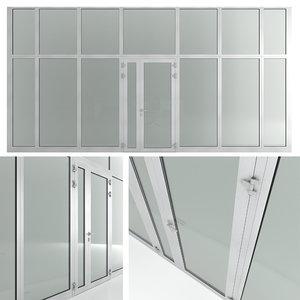 partitions doors 3D