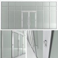 glass doors partitions 3D model