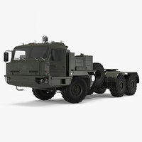 3D terrain tractor truck baz model