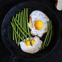 3D breakfast fried eggs