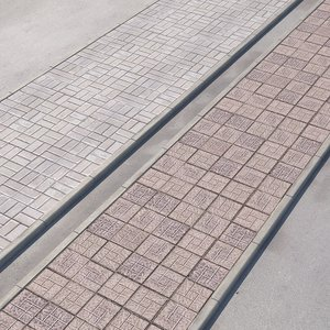 walkway paving road 3D model