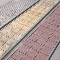 3D walkway paving road