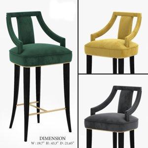 eanda-bar counter chair 2 3D