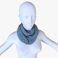 Low Poly Scarf with female mannequin