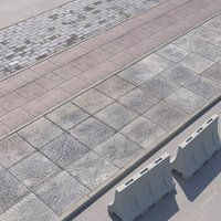 walkway paving road 3D