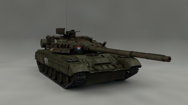 pbr t-80 3D model