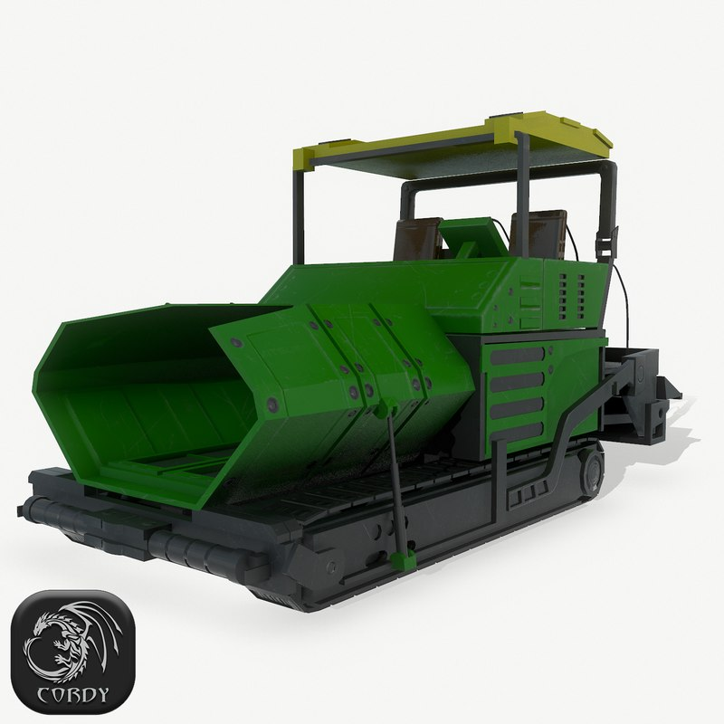 asphalt paver 3D model