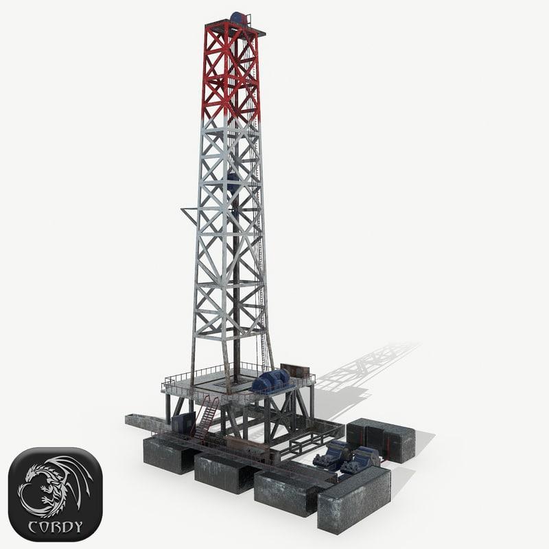 3D model drilling rig