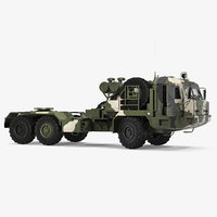 Military Truck BAZ 64022 Rigged 3D Model