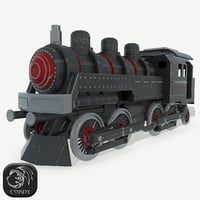 steam locomotive 3D