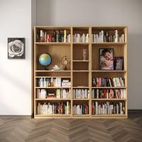 classic book shelf 3D