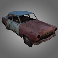 Gaz-21 Wreck Low-poly