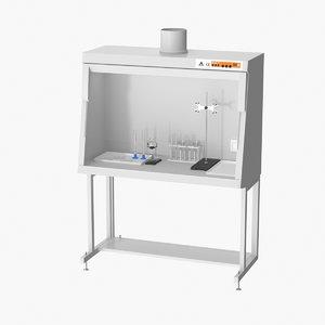 realistic ventilation laboratory shelf 3D model