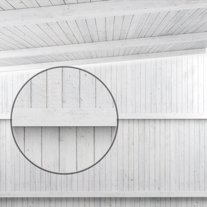3D wooden ceiling beam