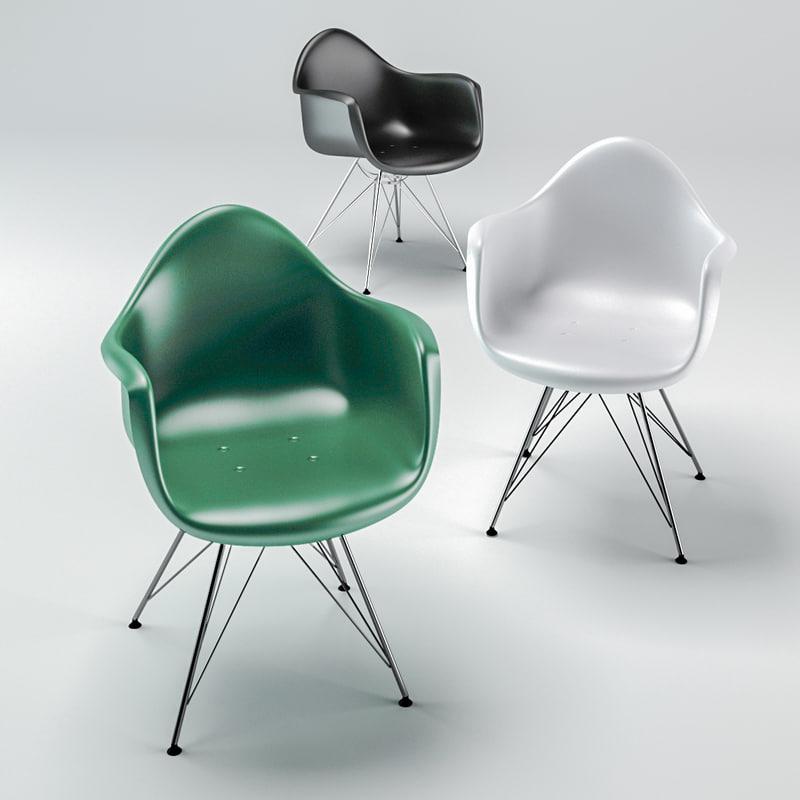 3D chair eames style dar model