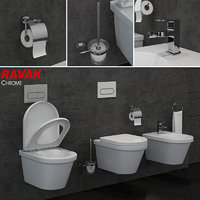 toilet bowl bidet ravak 3D model