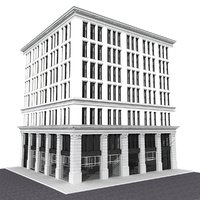 3D building new york corner model
