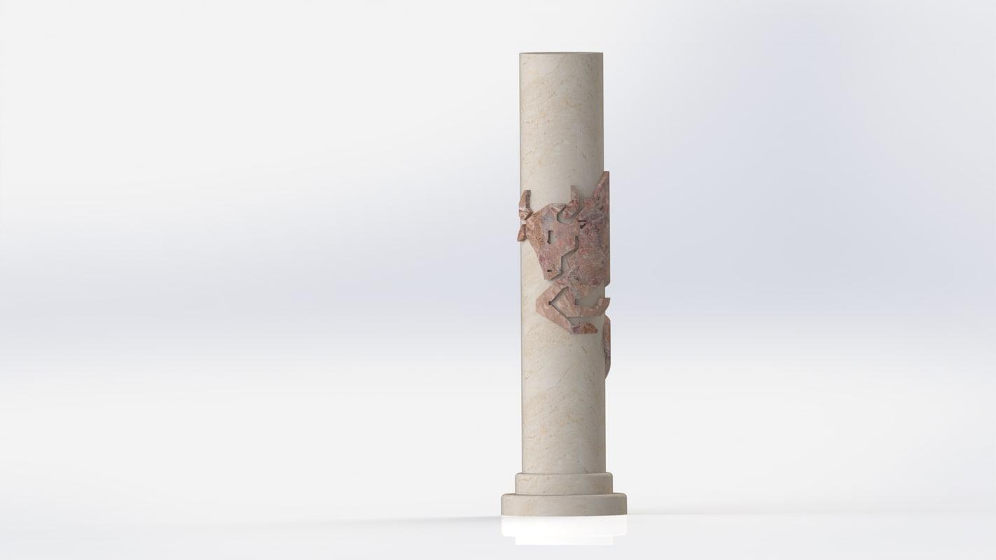 solidworks marble decor 3D