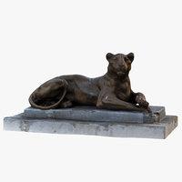 lioness statue 3D model