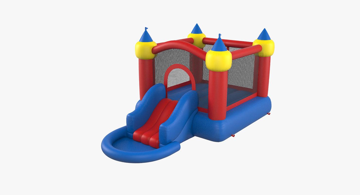 3D jump slide bouncer
