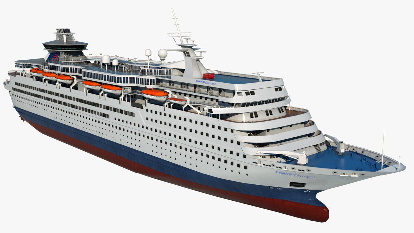 cruise celestyal olympia ship model