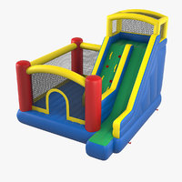 jump slide big bouncer 3D model