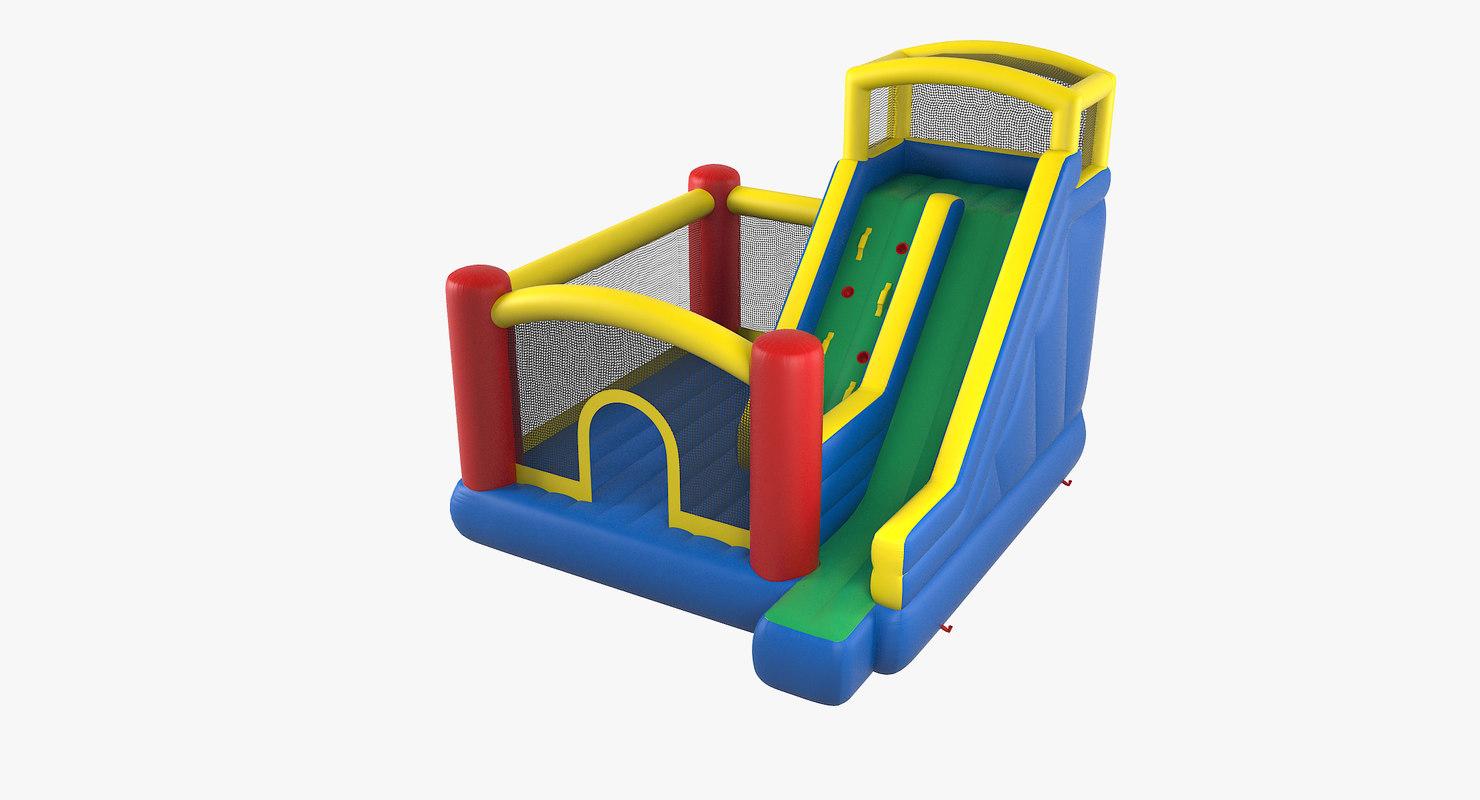 jump slide big bouncer 3D model