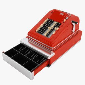 vintage cash register 3D
