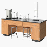 realistic laboratory equipment desk model