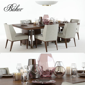 set bakers ceremony dining table 3D model