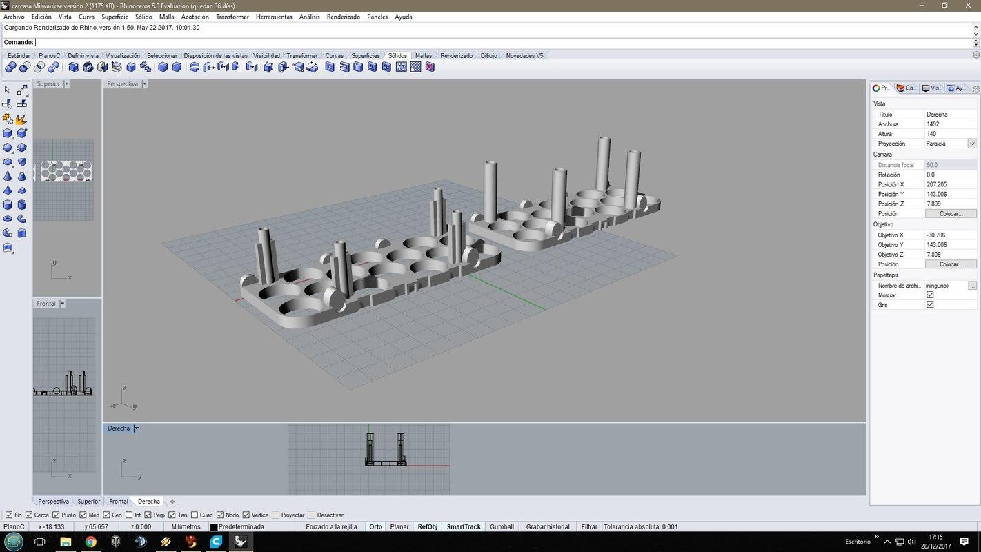 3D m28 milwaukee cell holder model
