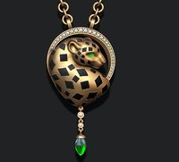 3D model jewel pendant panthere