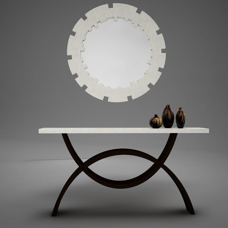 dining room buffet table 3D model