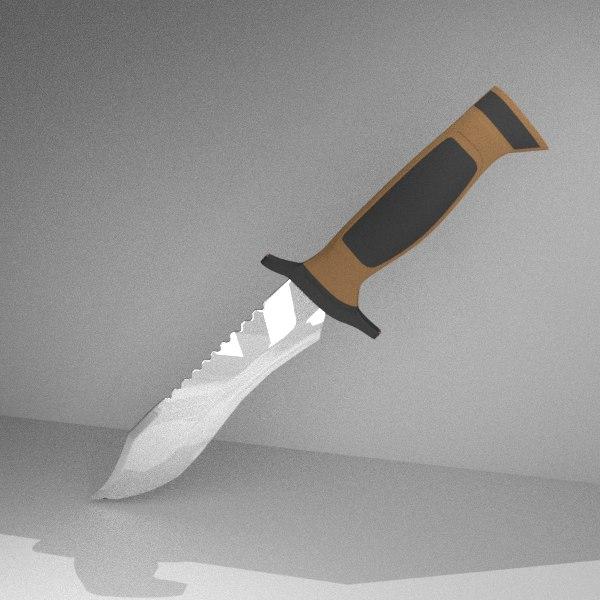 3D elite forces knife blade model