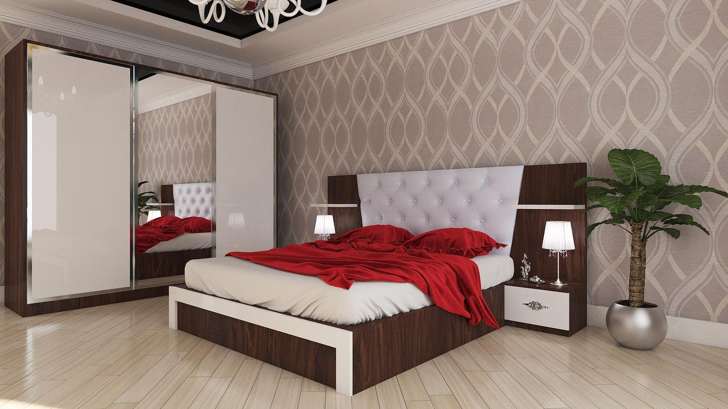 3D bedroom ezize bine model