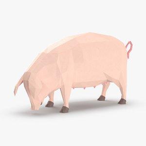 pig---grazing 3D