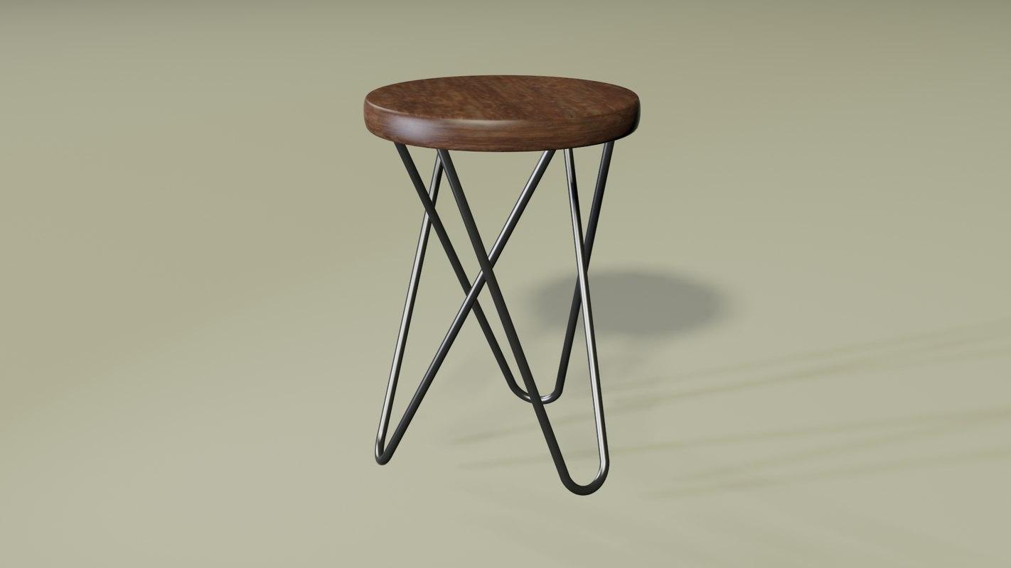 3D hairpin stool