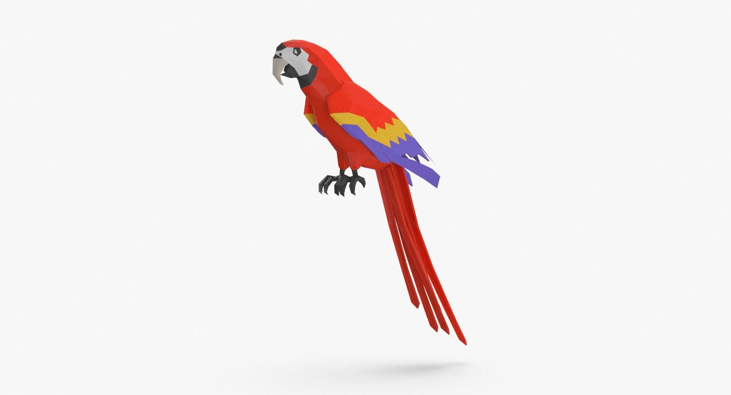 parrot----red-perching 3D model