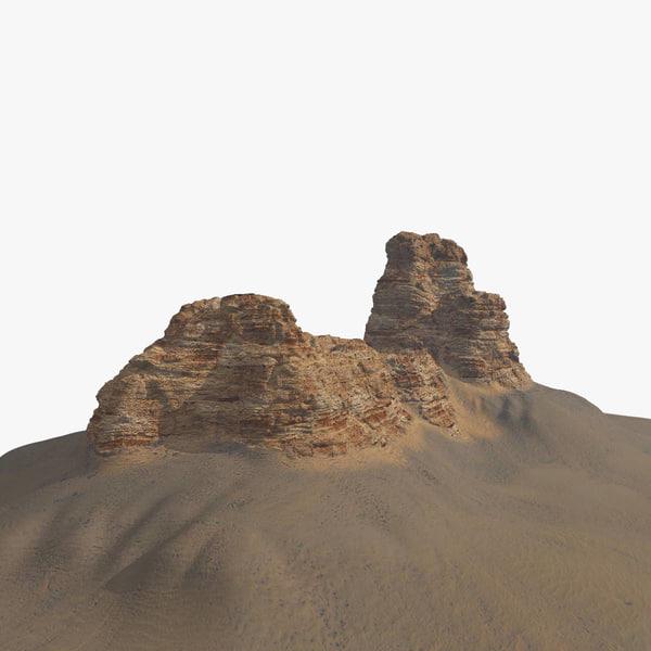 desert cliff 3D model
