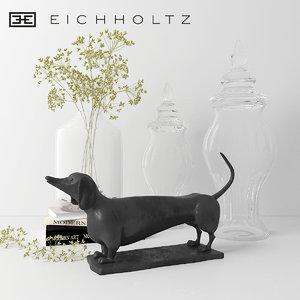 3D eichholtz dachshund - decorative