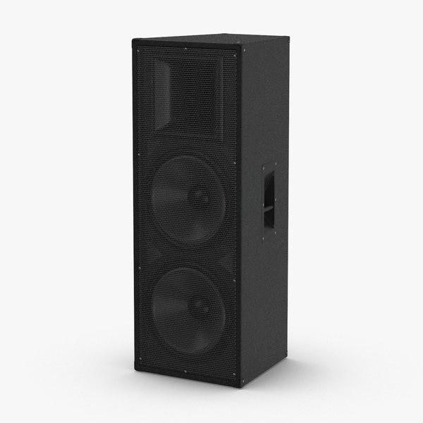3D stage-speaker-04 model