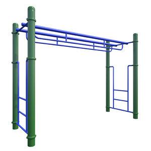3D model children playground monkey bars
