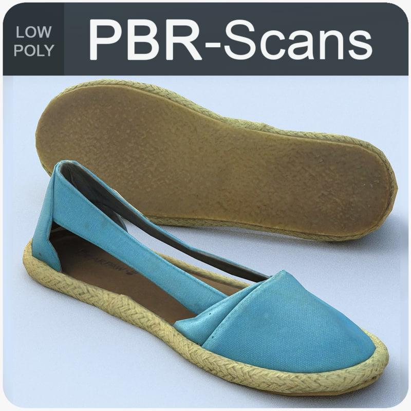 3D scans shoes model