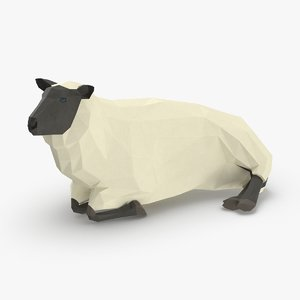 sheep---lying 3D model