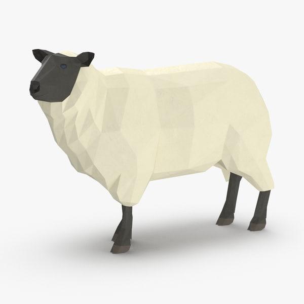 3D model sheep---standing