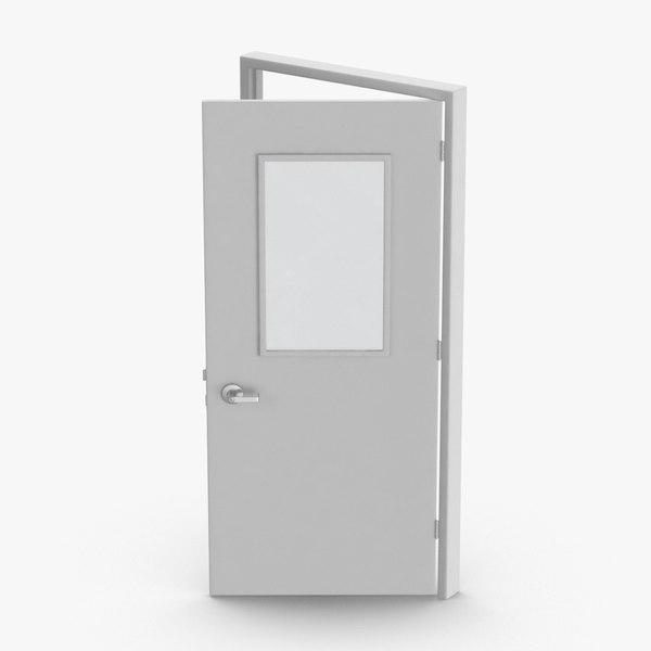 3D commercial-doors---door-1-ajar