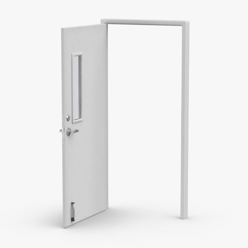 commercial-doors---door-2-open 3D model