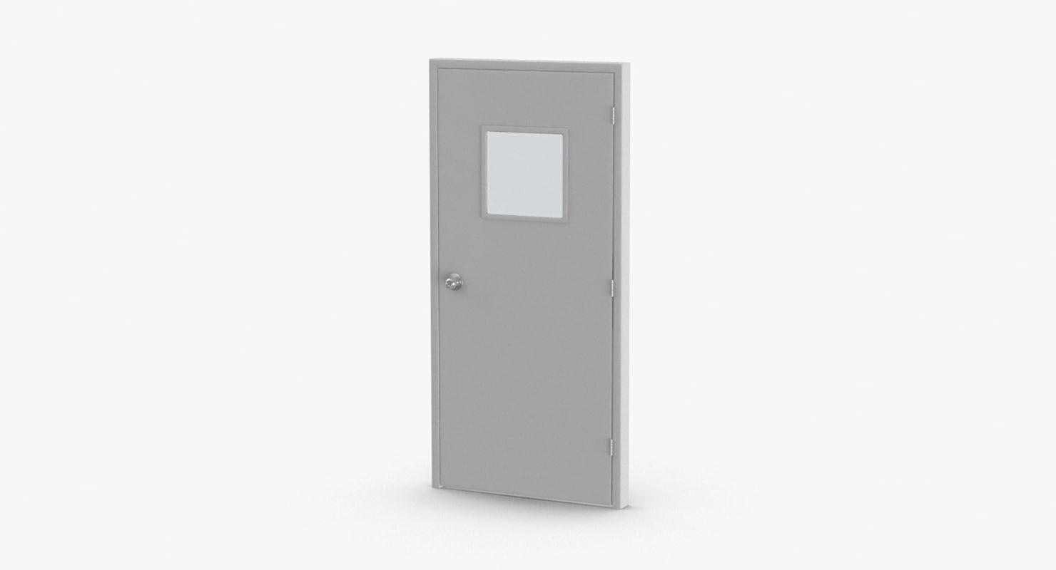 commercial-doors---door-3-closed model