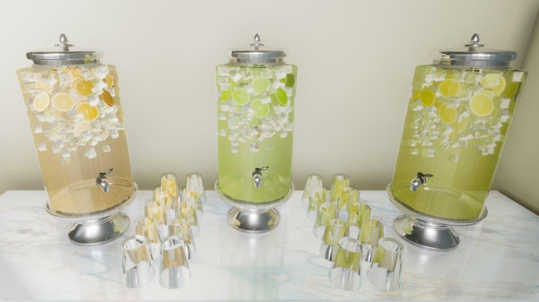 3D drinks dispenser model
